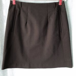 H&M Black A-Line Mini Skirt with Belt Loops - 6